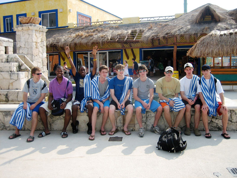 Nick and friends on HS Senior Year Spring Break