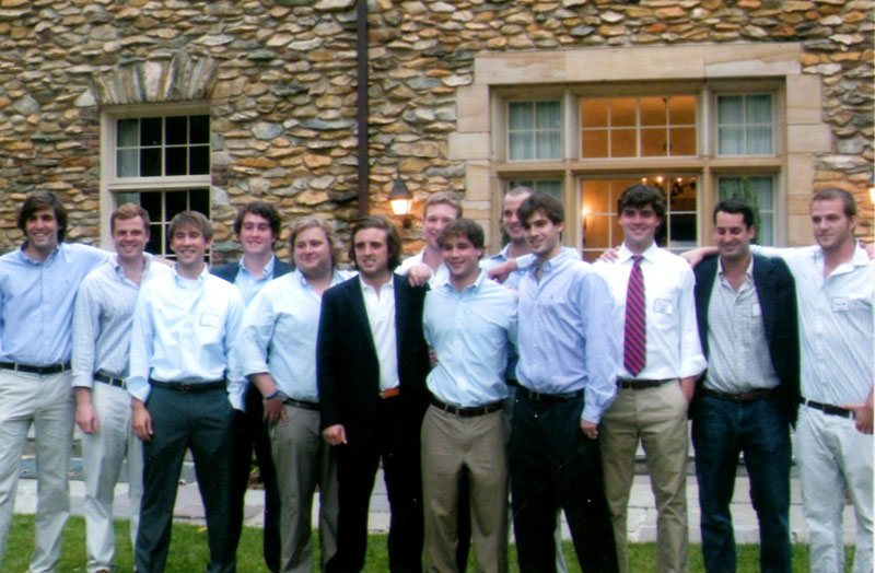 Nick with fellow DKE's – WF Graduation