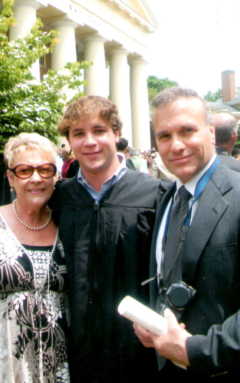 Nick and Godparents at WF Graduation