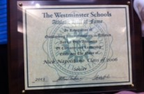 Nick elected to Westminster School Hall of Fame