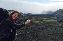 Maggie Reynolds on the Laugavegurinn Trail, Iceland