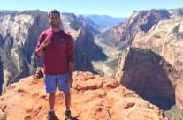 Rishav at Observation Point, Hurricane Utah