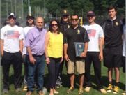NYO Nick Napolitano Best Buddy award for 2016 goes to Coach Dan Giordano and his Oglethorpe College volunteers.