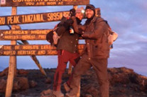 Casey and Bryce Albin,  top of Mt. Kilamanjaro, Tanzania, Africa