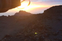 Casey and Bryce Albin, sunrise at top of Mt. Kilamanjaro, Tanzania, Africa
