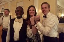 Touissant, Mattie and Danny at Corey¹s wedding in Louisville