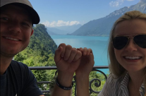 Sarah and Michael Seaborn at Lake Brienz, Switzerland